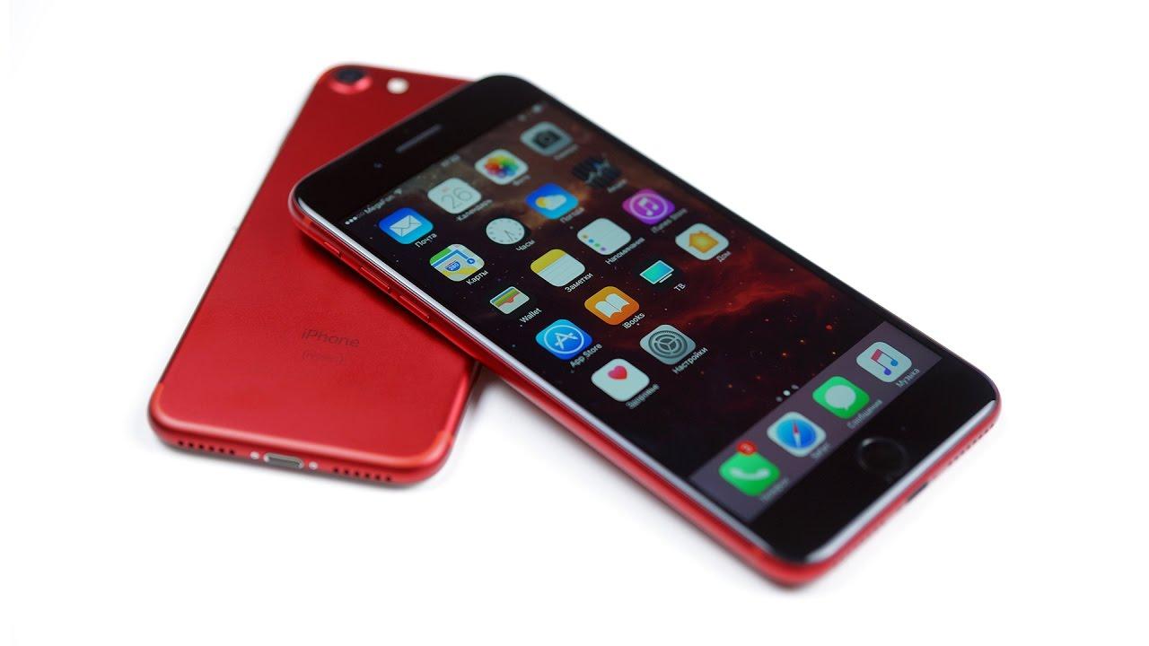 Делаем красный iPhone 7 Plus с черной лицевой панелью - PRODUCT (BLACK