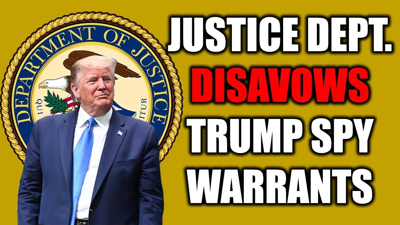 "Even DOJ Acknowledged FISA Warrants to Spy on Trump Were ""Garbage!"""