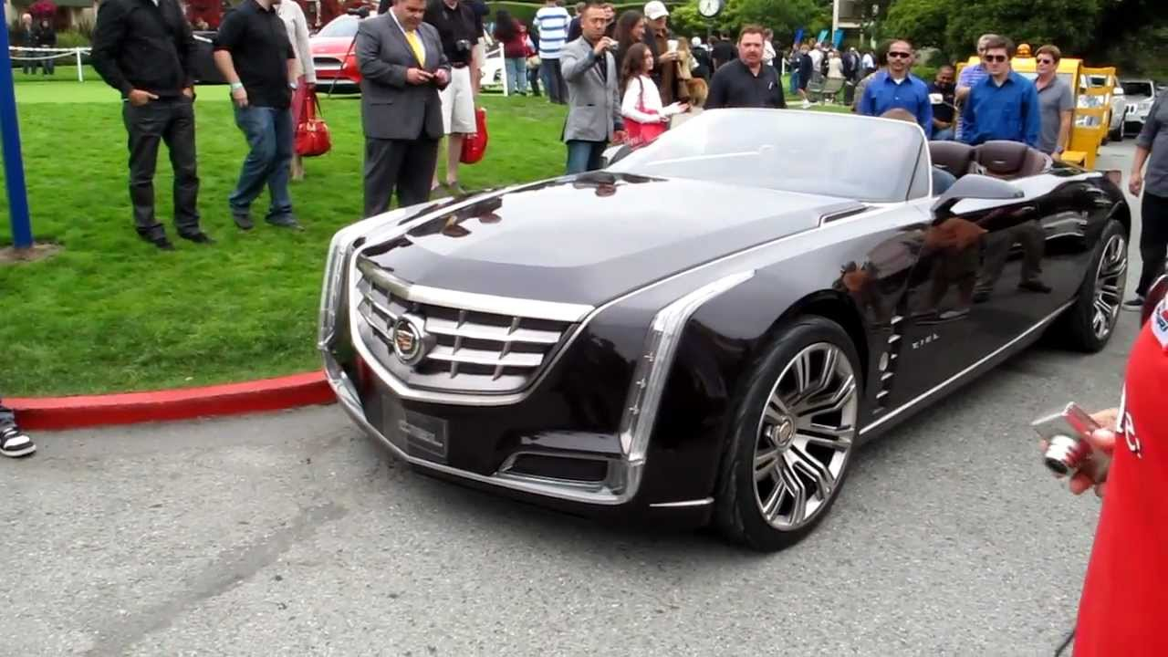 2016 Cadillac Convertible >> Cadillac Ciel 4 Door Convertible Unloads At Pebble Beach