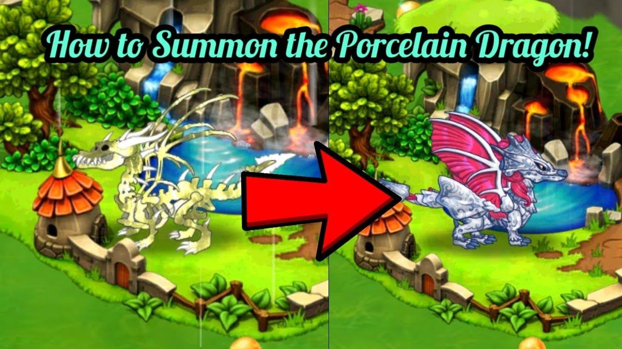 How To Summon Porcelain Dragon Dragonvale Youtube