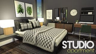 STUDIO APARTMENT + CC LINKS + GIVEAWAY WINNER   The Sims 4 Speed Build with Custom Content