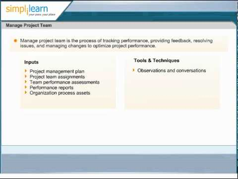 Manage Project Team | Human Resource Management | PMP Exam ...