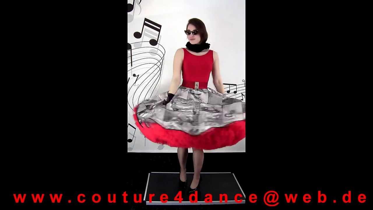 Tellerrock / Petticoatskirt Vespa Schwarz Weiß