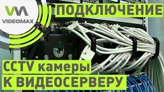 Подключение камеры видеонаблюдения к серверу. Использование панели VIDEOMAX