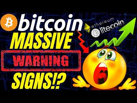 MASSIVE BITCOIN WARNING SIGNS!?  trading litecoin  ethereum