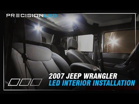 Jeep Wrangler LED Interior How To Install – 2007+