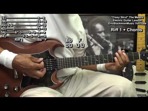 CISSY STRUT The Meters Guitar Lesson - EricBlackmonGuitar