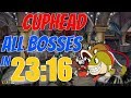 Gambar cover Cuphead All Bosses Speedrun in 23:16 Legacy Current World Record