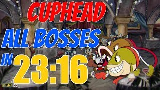 Cuphead All Bosses Speedrun in 23:16 (Legacy) [Current World Record]