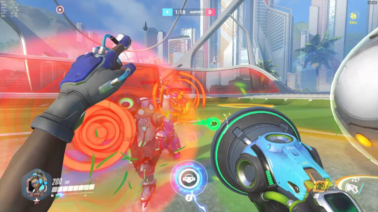 Download Overwatch   Soccer Lucio Ball   How to easy goal with ultimate + Highlight  1080p, 60fps