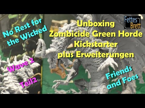 Unboxing - Zombicide Green Horde - Kickstarter - Wave 2 - Teil 2 - Close Ups Miniatures Cards