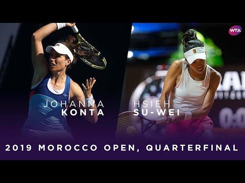 Johanna Konta vs. Hsieh Su-Wei | 2019 Morocco Open Quarterfinal | WTA Highlights