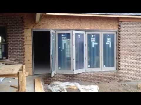 Andersen Folding Outswing Door - YouTube