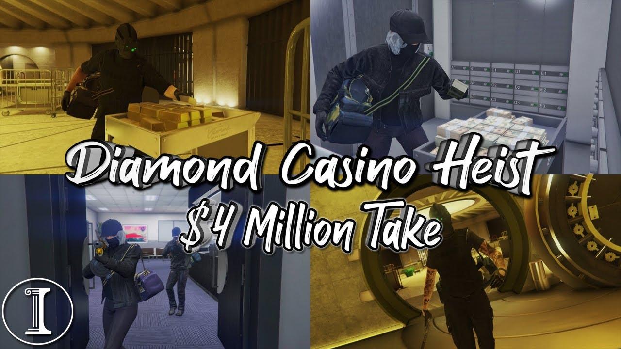GTA Diamond Casino Heist - $4 Million Take (2 Players) [Gold Glitch 2.0]