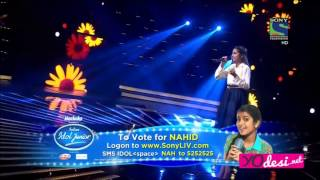 Indian Idol Junior 2015 - Nahid Afrin  Sawaar Loon