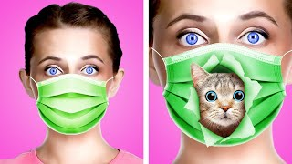 SNEAK PETS INTO CLASS || Sneak Pets not Snacks Anywhere! Funny Situations & Sneaking Ideas by Kaboom