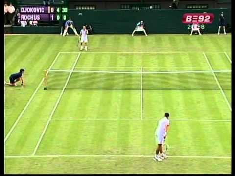 Djokovic vs. O. Rochus - R1 (Wimby'10)