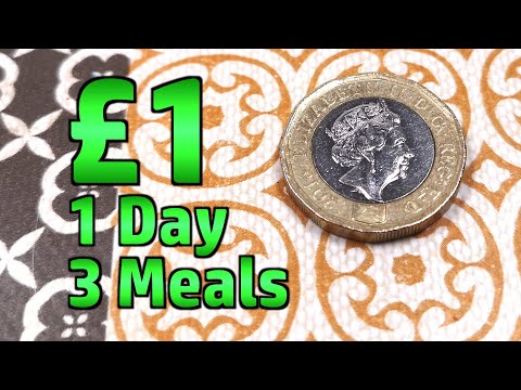 1 Day, 1 Pound, 3 Meals - Limited Budget Food Challenge