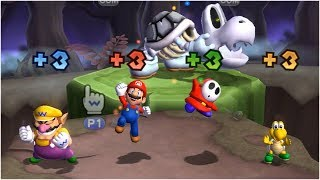 Mario Party 9 Blooper Beach - Wario vs Mario vs Shy Guy vs Koopa Troopa Gameplay | MARIOGAMINGHUB