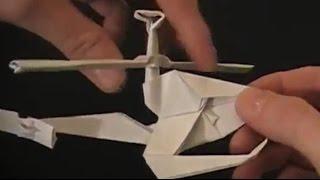 Вертолет оригами  С работающими винтами(Вертолет оригами Сегодня в нашей оригами подборке снова возвращаемся к моделям различной техники, которые..., 2015-06-29T17:32:12.000Z)