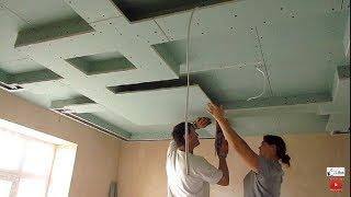 ШИКАРНЫЙ ВЕСТИБЮЛЬ, потолок из гипсокартона, двухуровневый своими руками