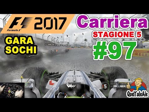F1 2017 - PS4 Gameplay ITA - T300 - Carriera #97 - GARA SOCHI - Grandi rischi