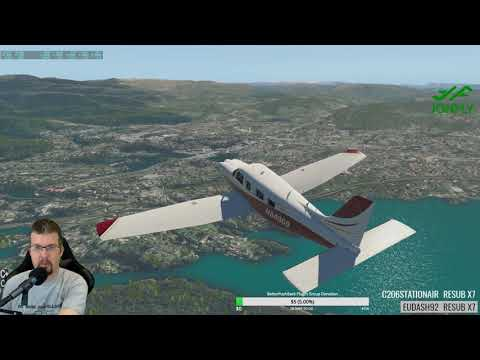 X-Plane 11 More Norway ENBR to ENBM Piper Saratoga PA32 FSEconomy