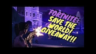 FORTNITE (SUB 4 SUB) GIVEAWAYS ON SAVE THE WORLD !!!!!!!!!!!!!!!