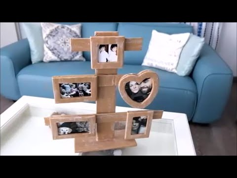 how to make a cardboard photo frame home diy