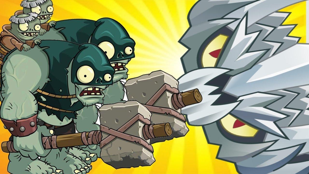 Spikerock Pvz 2 Vs Boss Dark Ages Gargantuar in Plants vs  Zombies 2:  Gameplay 2016