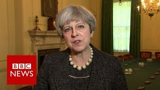 Theresa May to raise issue of information sharing with President Trump   BBC News