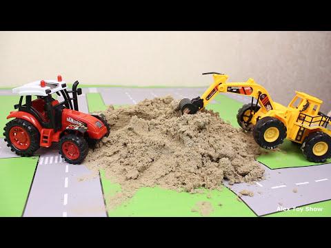 Мультик про машинки - 176 серия: Спецтехника, экскаватор, трактор, самосвал, авария.