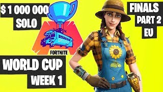 Fortnite World Cup WEEK 1 FINAL Part 2 Highlights - EU Solo Day 2 [Fortnite Tournament 2019]