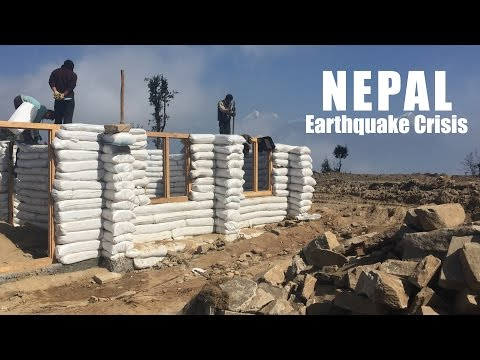 Nepal Earthquake Victims Build Earthbag Homes
