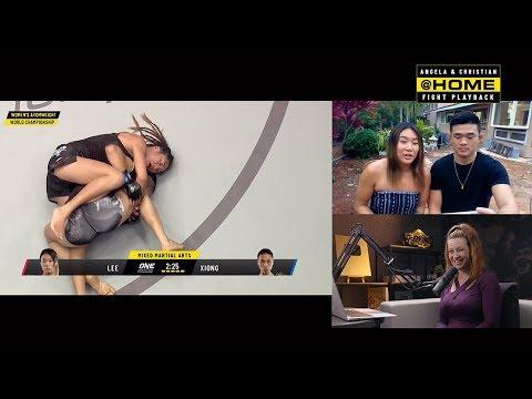 Angela Lee, Christian Lee & Miesha Tate   ONE@Home Fight Playback