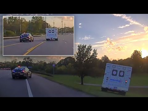Cops in High Speed Chase to Catch 21-Year-Old They Say Stole Ambulance