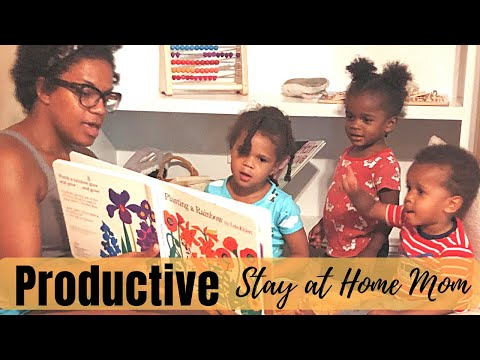 productive-morning-routine- -sahm-mom-of-3-under-3