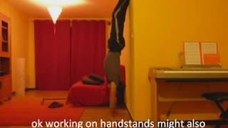 handstand press training