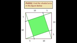 Puzzle Area of a Square inside a Square