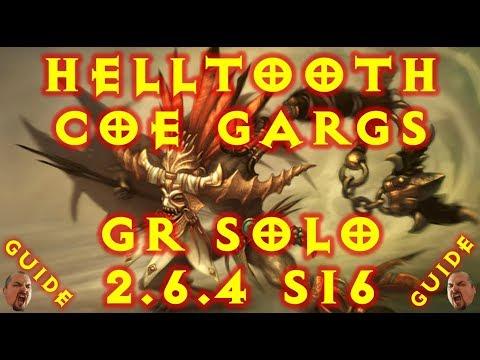 Diablo 3 S16 Helltooth Gargantuan CoE Witch Doctor Build! 2.6.4