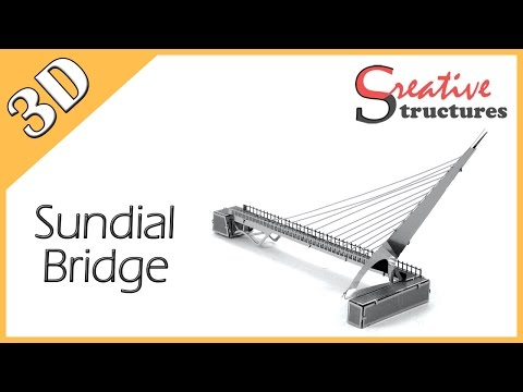 3D metal model & puzzle - Sundial Bridge (United States Architecture)