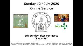 Alloway Parish Church Online Service - Sunday, 12th July 2020