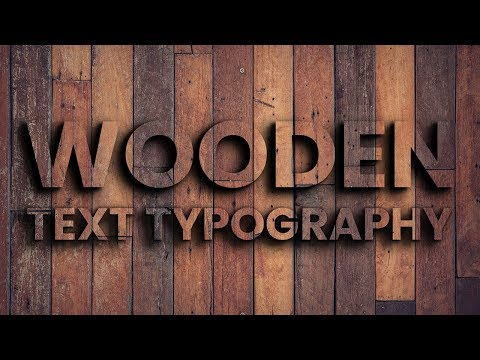 Wooden Text Typography | Html CSS Effects