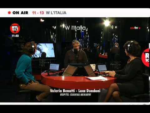 presentazione Inno  | Gianna Nannini | RTL 102.5 | 14.01.2013