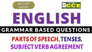 BPS Clerk Prelims English MT 092  Grammar Based Questions  Parts of Speech Tenses