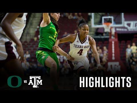 Women's Basketball: Highlights   A&M vs Oregon