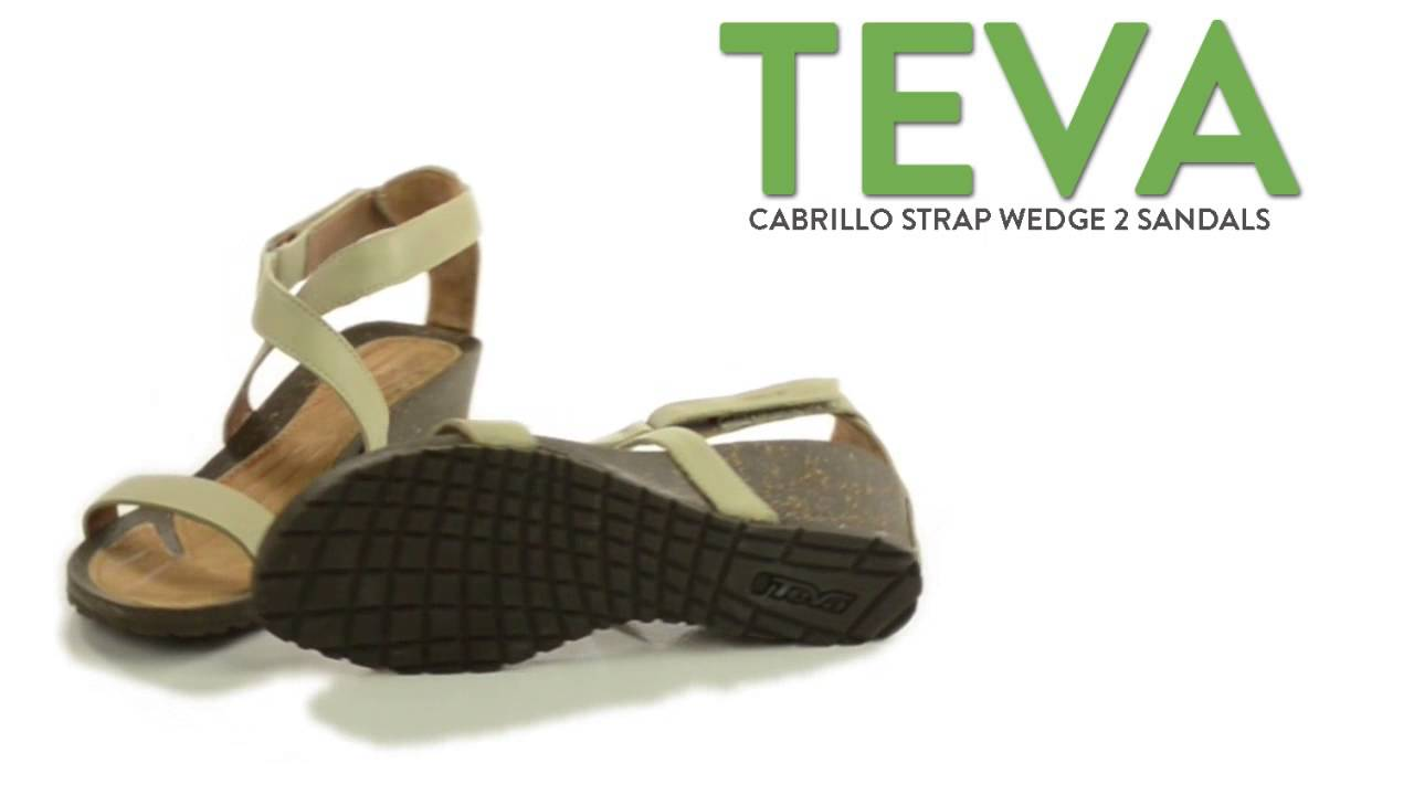 6318c546aabb Teva Cabrillo Strap Wedge 2 Sandals - Leather (For Women) - YouTube