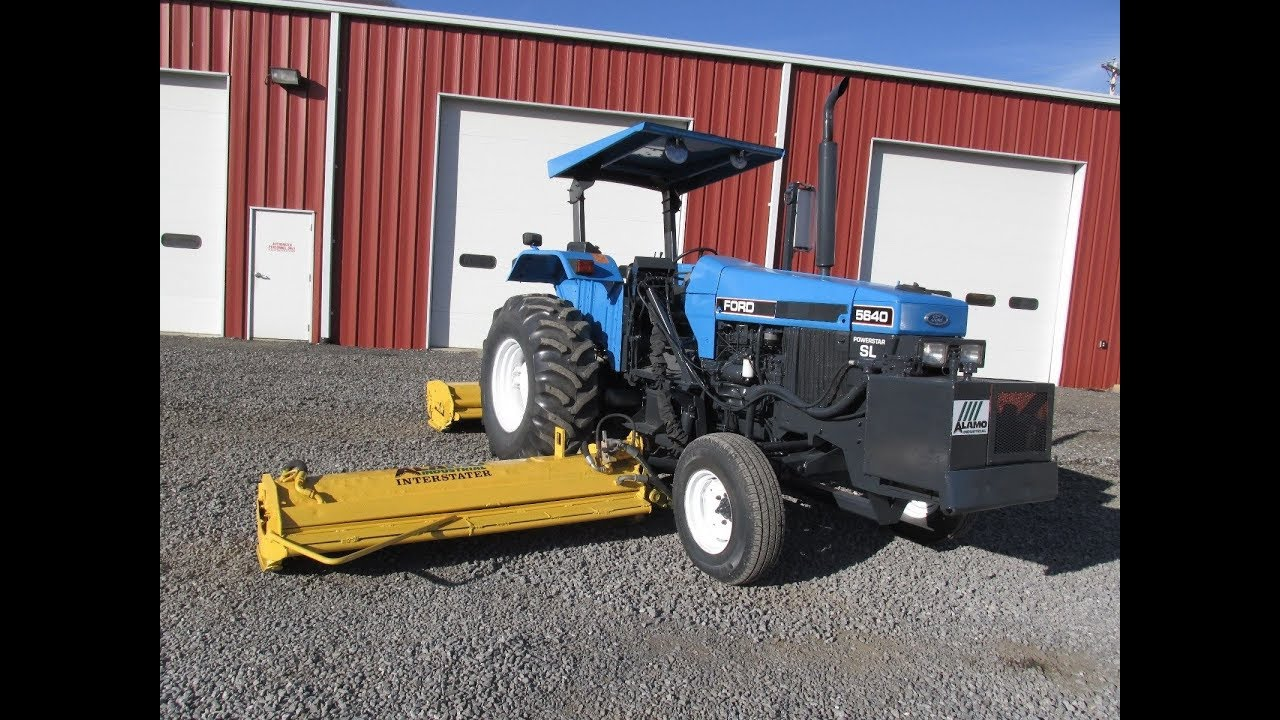 1997 Ford SL Farm Tractor with Alamo Interstarter Side and Rear Flail Mower