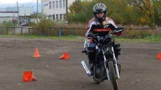 Упражнение из урока вождения мотоцикла