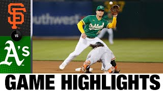 Giants vs. A's Game Highlights (8/20/21)